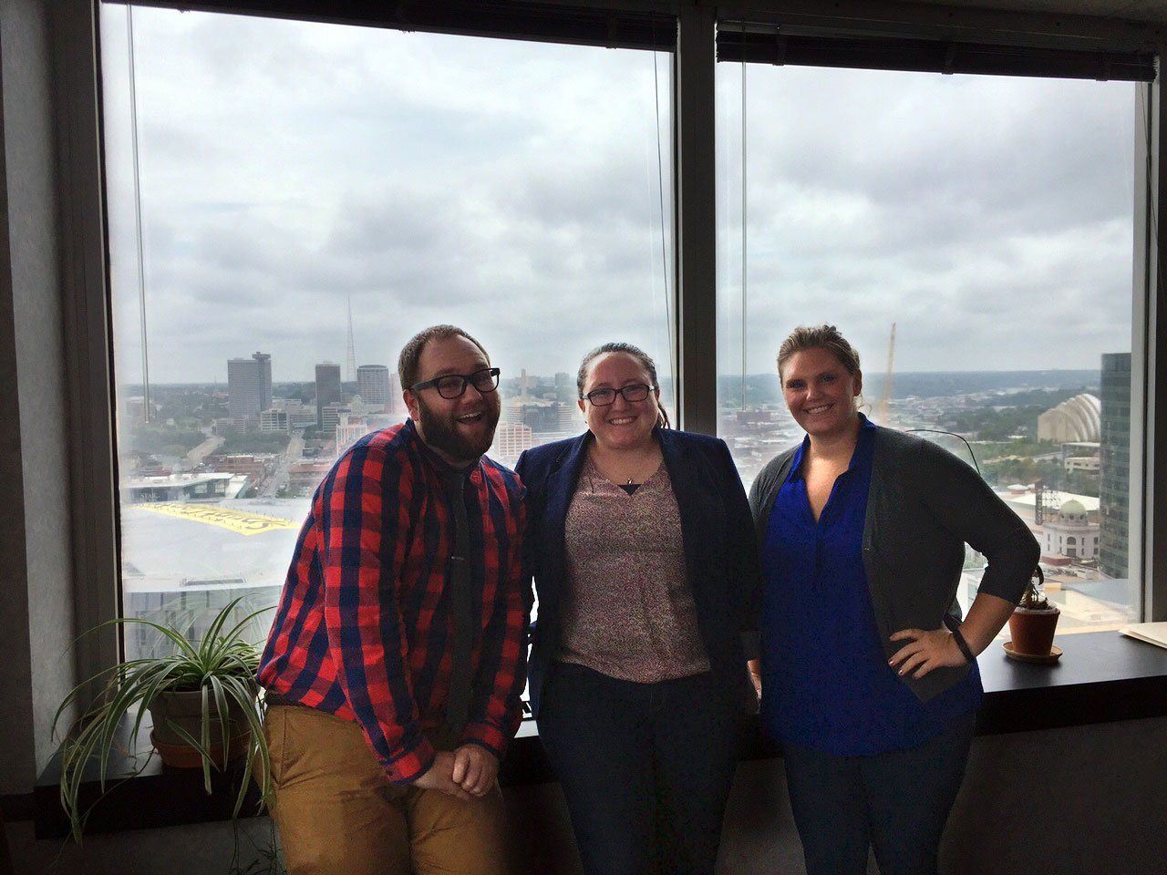 KU Law students Travis Freeman, Libby Snyder and Cori Viola are spending the summer as interns at Legal Aid of Western Missouri. Also an intern, not pictured, is Maggie Turek.