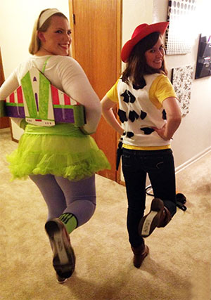 "Considine (right) teamed up with classmate Addison Polk last Halloween for a ""Toy Story""-themed costume."