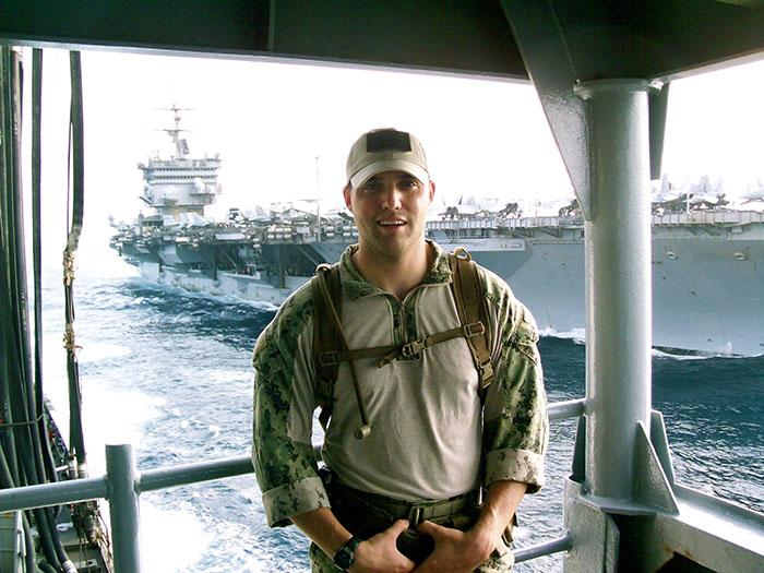Derek Kandt and the USS Enterprise.