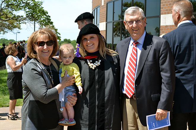 Roger Viola, L'74, and family