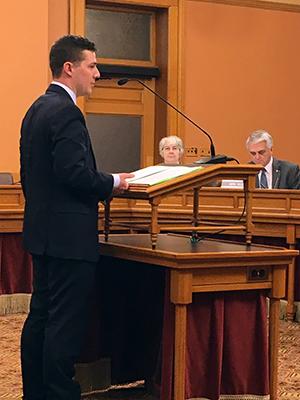 KU Law student Kevin Berndt