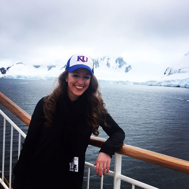 Cachet Hancock in Antarctica