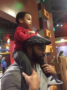 Kriston and his son Kai.