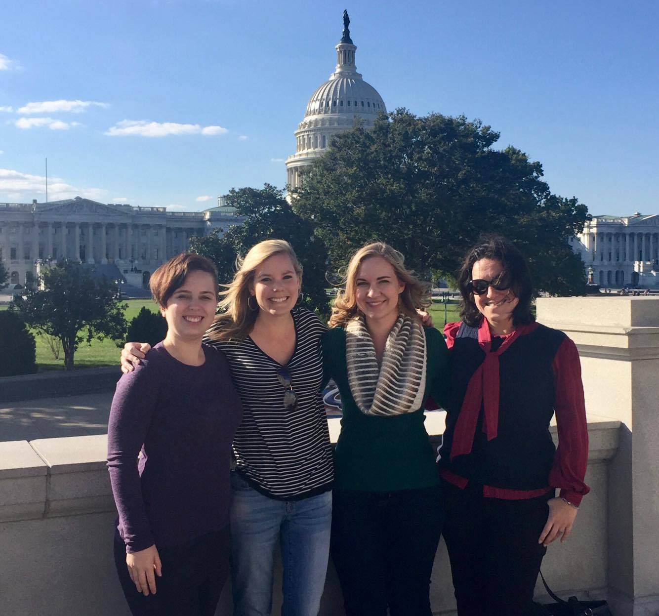 Haley Claxton and friends in front of U.S. Capitol.