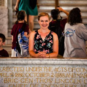 Haley Claxton at the Library of Congress