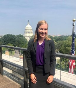 Haley Claxton in front of U.S. Capitol