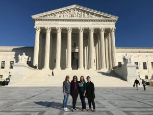 Haley Claxton and friends in front of U.S. Supreme Court