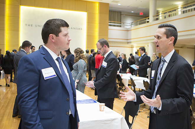Ben Stringer, left, at Legal Career Options Day in 2015.