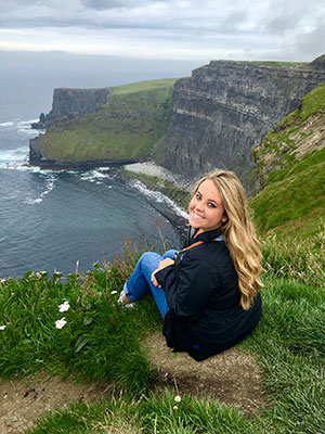 Katie Gilman studying abroad in Ireland.