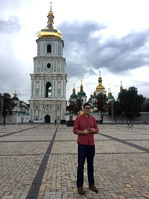 Josh DeMoss in Kyiv, Ukraine.
