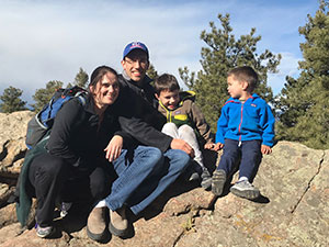 Sam LaRoque with his wife and sons.