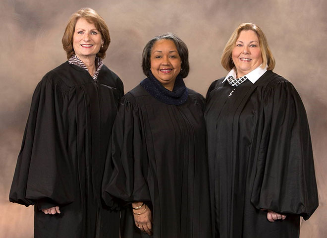 Chief Judges Janice Miller-Karlin, Julie Robinson and Karen Arnold-Burger