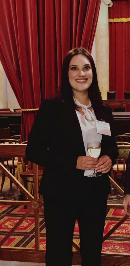Emory Saucedo attends a networking reception during 6th Semester in D.C. Program